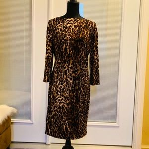 👗Ralph Lauren Dress Leopard print - Size 14👗